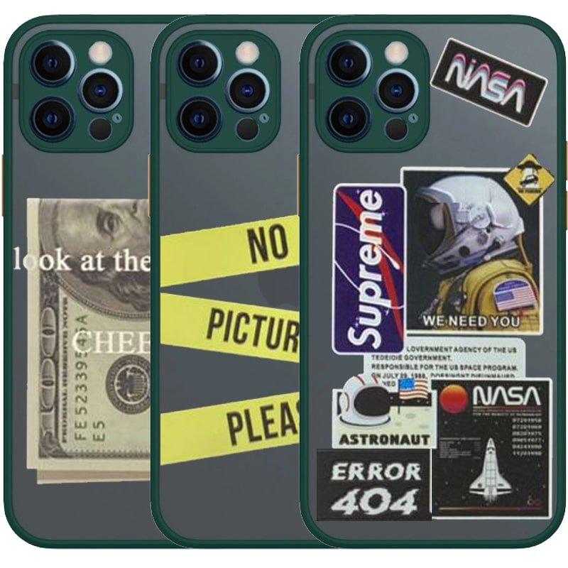 کاور فانتزی هیبریدی مناسب برای گوشی IPHONE 12 Pro مدل پشت مات محافظ لنزدار سری طرحدار پسرانه