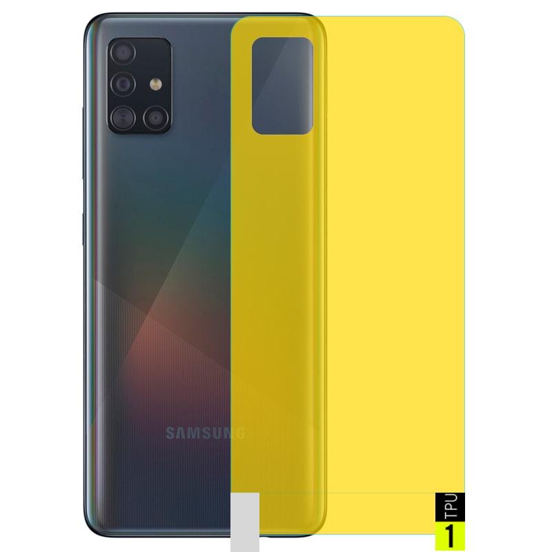 برچسب نانو پشت گوشی Samsung Galaxy A51 مدل فول کاور شفاف آنتی شوک