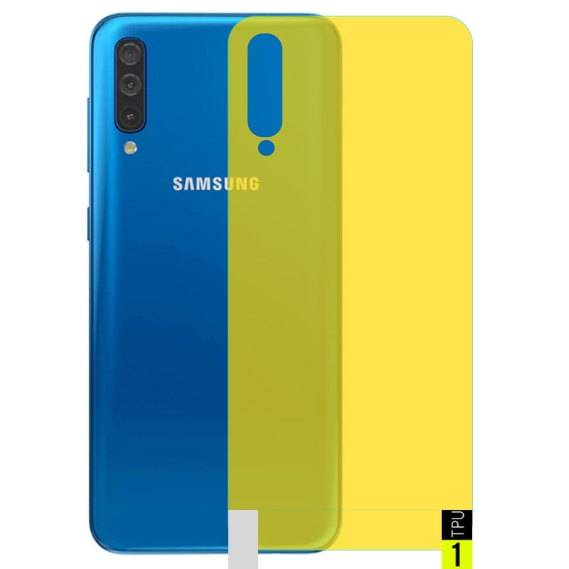 برچسب نانو پشت گوشی Samsung Galaxy A50 مدل فول کاور شفاف آنتی شوک
