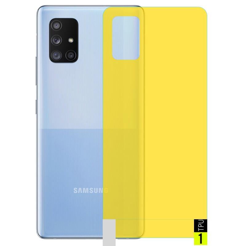 برچسب نانو پشت گوشی Samsung Galaxy A71 مدل فول کاور شفاف آنتی شوک