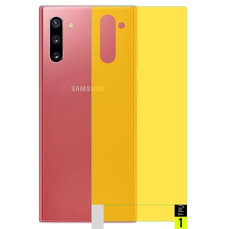 برچسب نانو پشت گوشی Samsung Galaxy Note 10 مدل فول کاور شفاف آنتی شوک