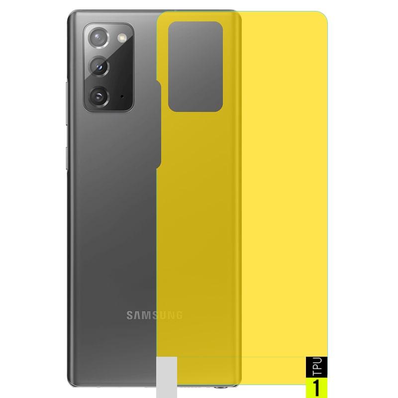 برچسب نانو پشت گوشی Samsung Galaxy Note 20 مدل فول کاور شفاف آنتی شوک