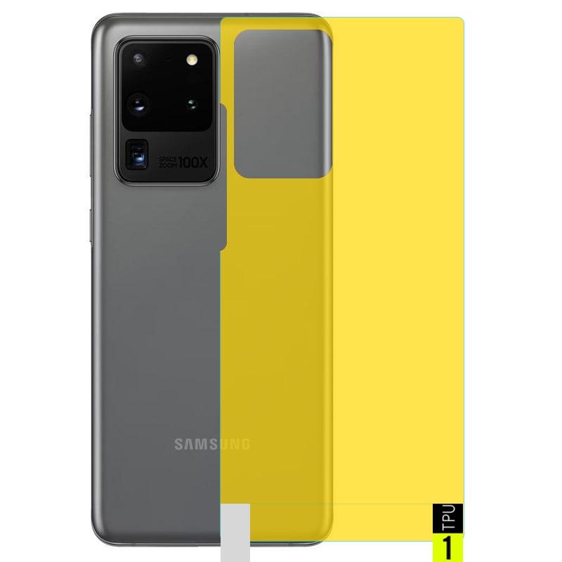 برچسب نانو پشت گوشی Samsung Galaxy S20 Ultra مدل فول کاور شفاف آنتی شوک