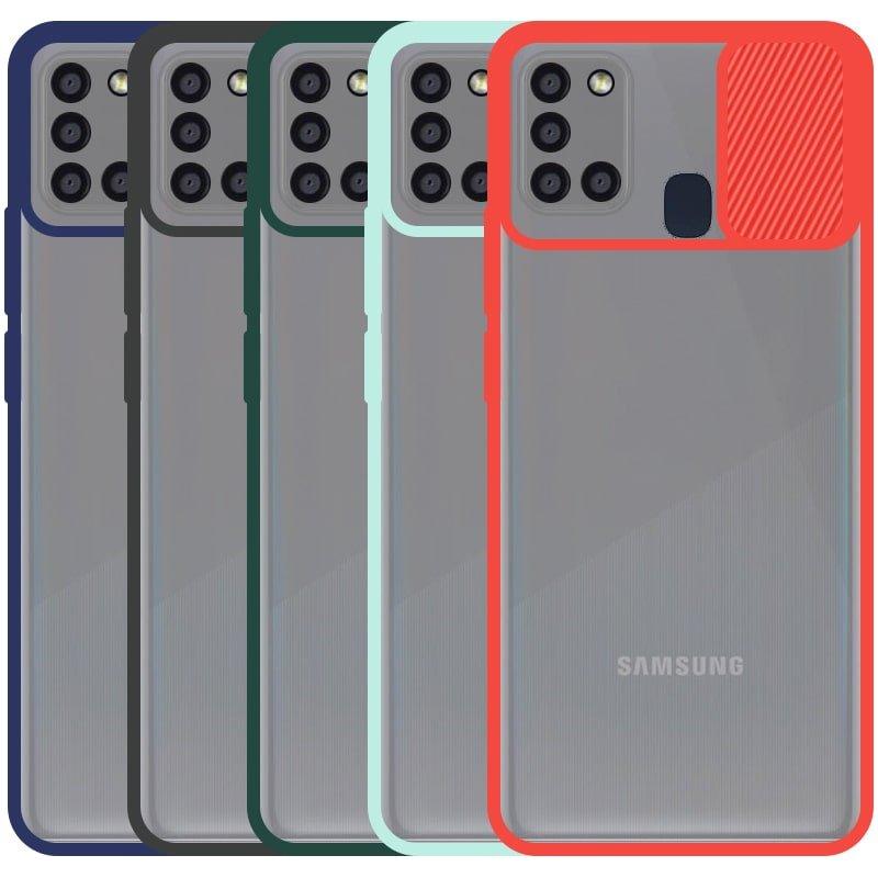 قاب محافظ مناسب برای گوشی Samsung Galaxy A21S مدل ماکرو شیلد محافظ لنزدار طرح پشت مات
