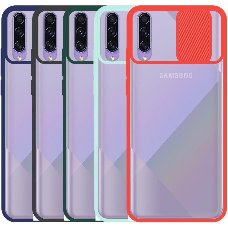 قاب محافظ مناسب برای گوشی Samsung Galaxy A30S مدل ماکرو شیلد محافظ لنزدار طرح پشت مات