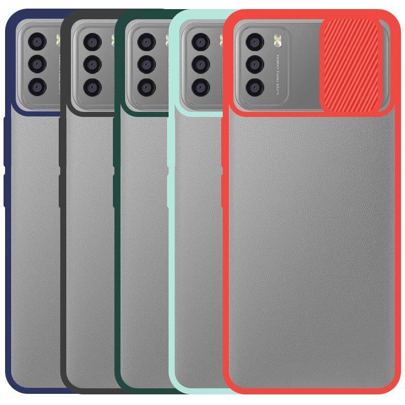قاب و گارد محافظ مناسب برای گوشی Xiaomi POCO M3 مدل ماکرو شیلد محافظ لنزدار طرح پشت مات