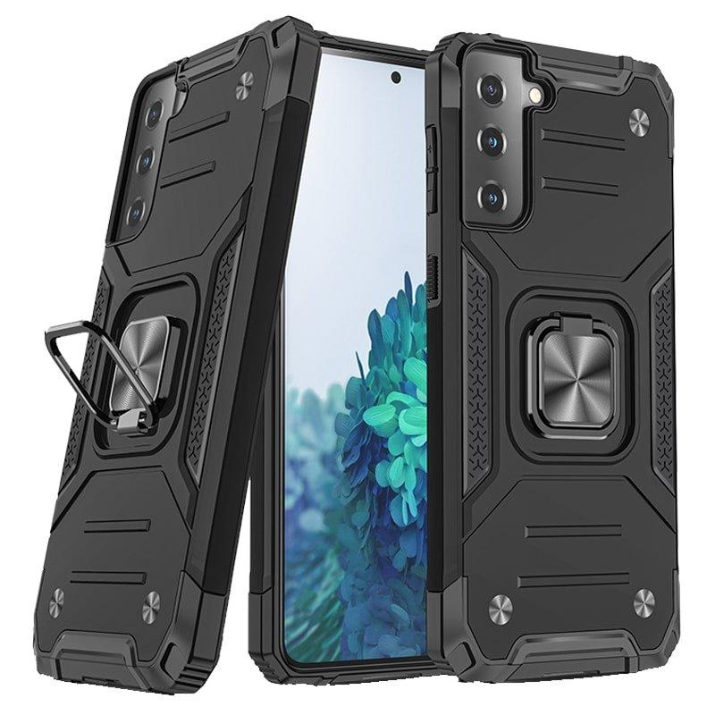 قاب اورجینال گوشی مناسب برای Samsung Galaxy S21 5G طرح آرمور به همراه رینگ استند مدل رنجر فون