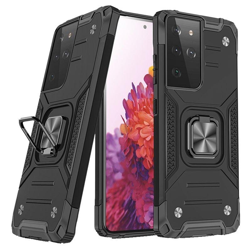 قاب اورجینال گوشی مناسب برای Samsung Galaxy S21 Ultra طرح دیفندر آرمور به همراه رینگ استند مگنتی مدل Ranger Phone
