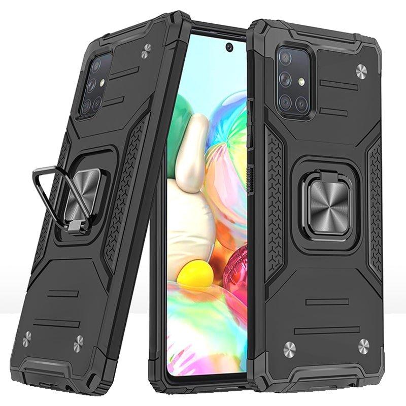 قاب اورجینال گوشی مناسب برای Samsung Galaxy A71 طرح دیفندر آرمور به همراه رینگ استند مگنتی مدل Ranger Phone
