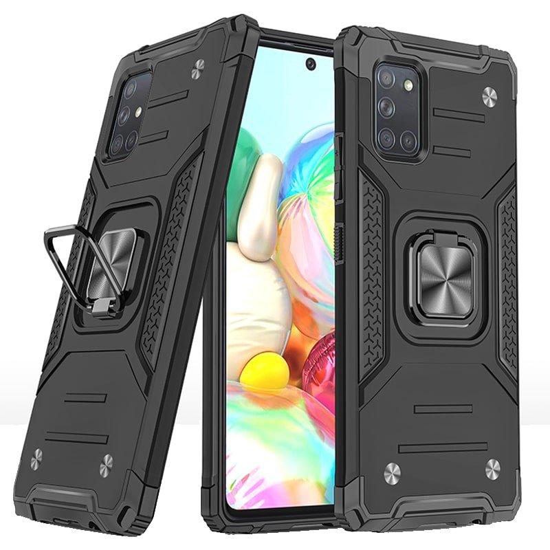 قاب اورجینال گوشی مناسب برای Samsung Galaxy A31 طرح دیفندر آرمور به همراه رینگ استند مگنتی مدل Ranger Phone (محافظ لنزدار)