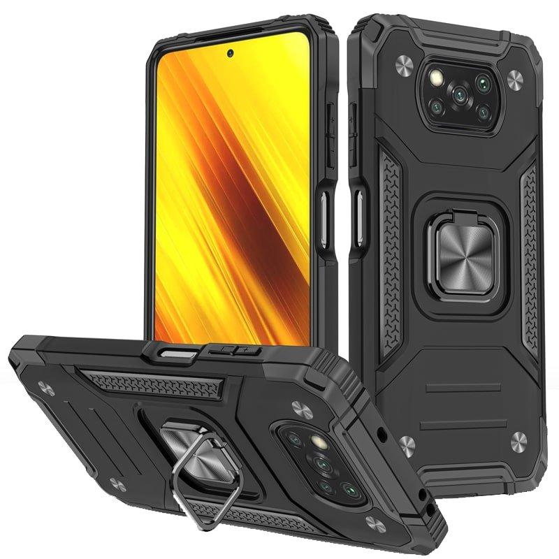 قاب اورجینال گوشی مناسب برای Xiaomi Poco X3 nfc / pro طرح آرمور به همراه رینگ استند مدل رنجر فون
