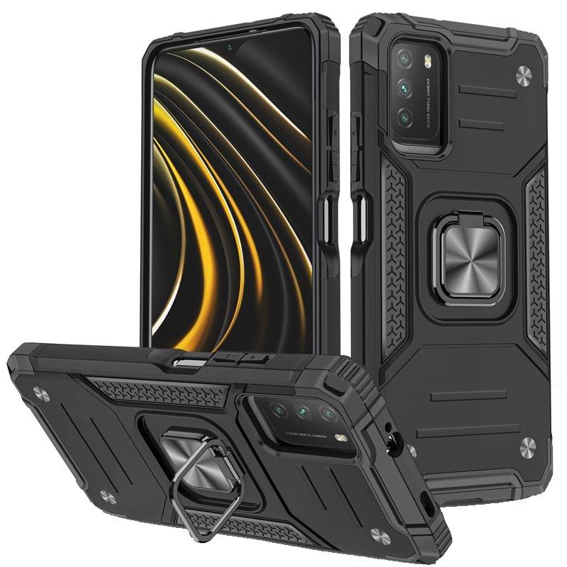 قاب اورجینال گوشی مناسب برای Xiaomi POCO M3 / M3 Pro طرح دیفندر آرمور به همراه رینگ استند مگنتی مدل Ranger Phone