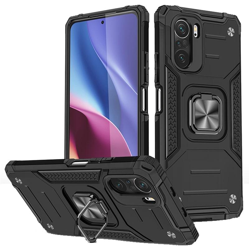 قاب اورجینال گوشی مناسب برای Xiaomi Redmi K40 طرح آرمور به همراه رینگ استند مدل رنجر فون