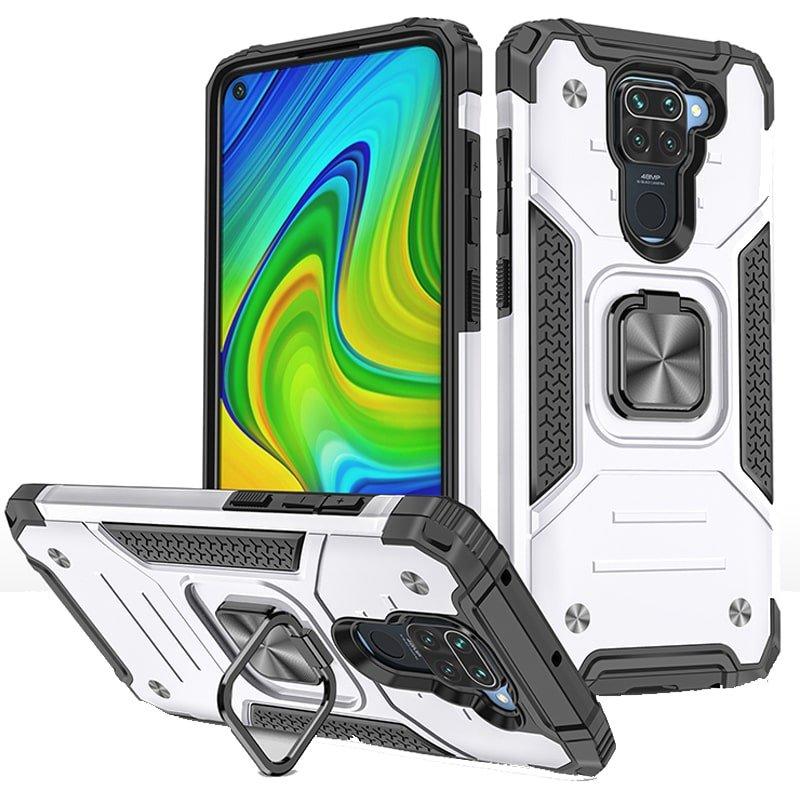قاب اورجینال گوشی مناسب برای Xiaomi Redmi Note 9 طرح دیفندر آرمور به همراه رینگ استند مگنتی مدل Ranger Phone