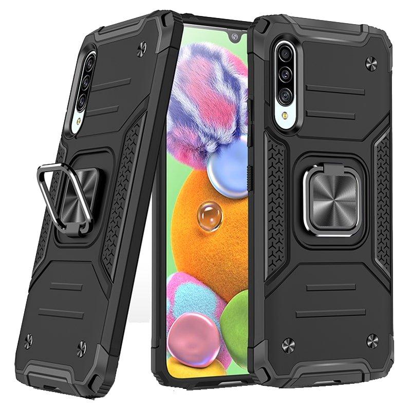 قاب اورجینال گوشی مناسب برای Samsung Galaxy A30S طرح دیفندر آرمور به همراه رینگ استند مگنتی مدل Ranger Phone (محافظ لنزدار)