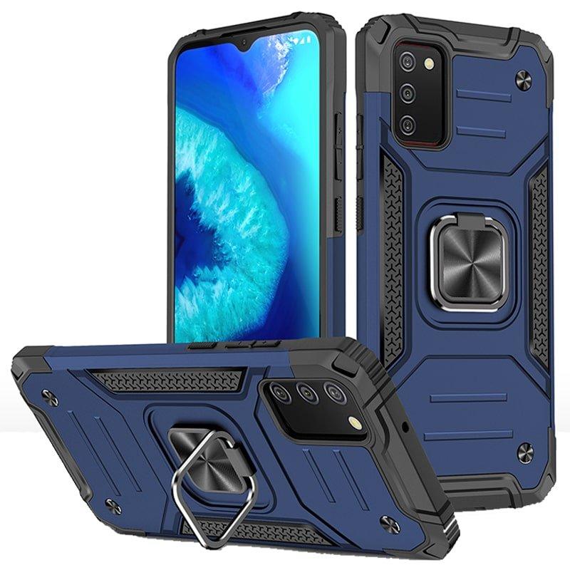 قاب اورجینال گوشی مناسب برای Samsung Galaxy A02S طرح دیفندر آرمور به همراه رینگ استند مگنتی مدل Ranger Phone (محافظ لنزدار)