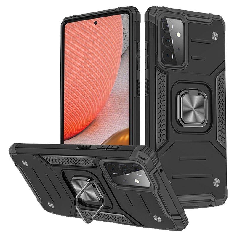 قاب اورجینال گوشی مناسب برای Samsung Galaxy A52 5G / 4G طرح دیفندر آرمور به همراه رینگ استند مگنتی مدل Ranger Phone (محافظ لنزدار)