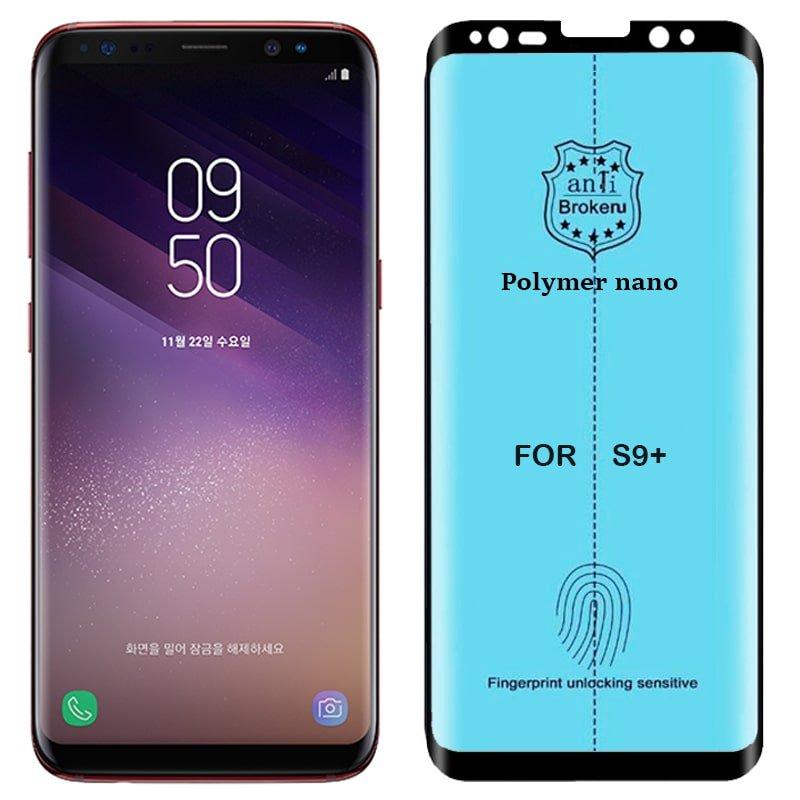برچسب PMMA محافظ صفحه نمایش اورجینال مناسب برای گوشی Samsung Galaxy S9 Plus مدل پلیمر نانو از برند کینگ کونگ Anti Broken Polymer Nano King Kong