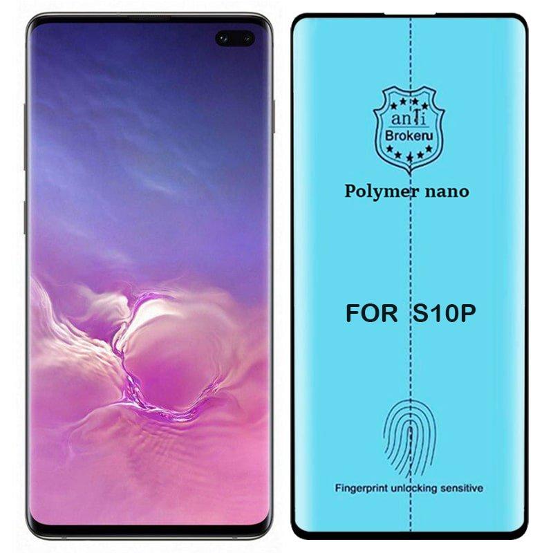 برچسب PMMA محافظ صفحه نمایش اورجینال مناسب برای گوشی Samsung Galaxy S10 Plus مدل پلیمر نانو از برند کینگ کونگ Anti Broken Polymer Nano King Kong