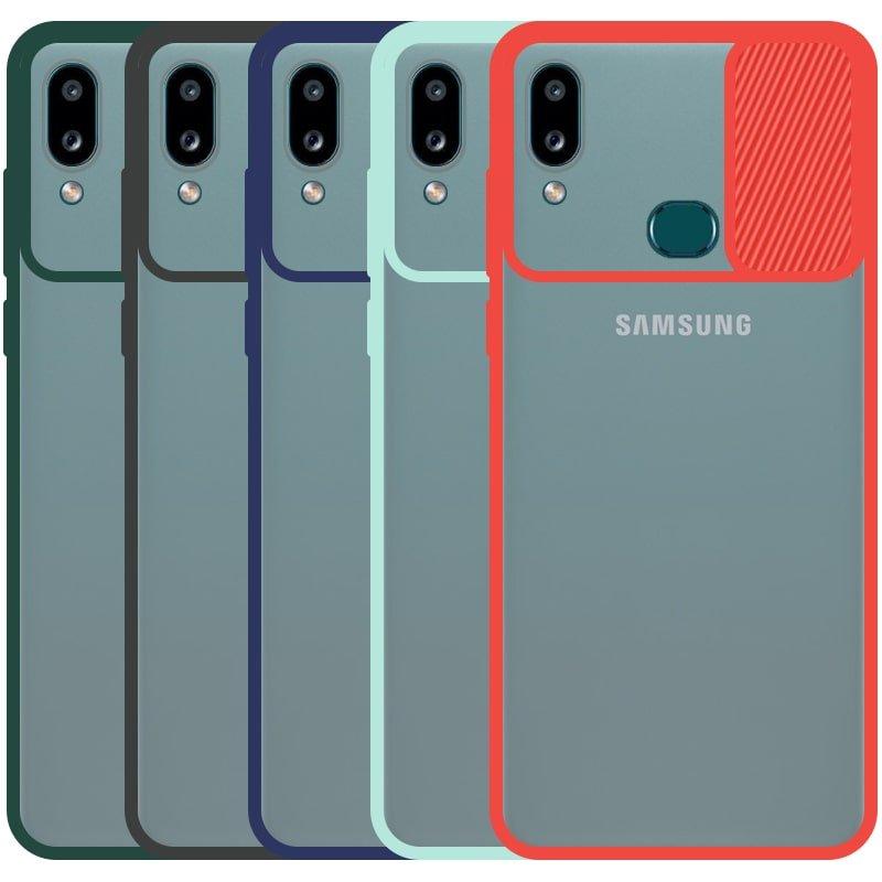 قاب محافظ مناسب برای گوشی Samsung Galaxy A10S مدل ماکرو شیلد محافظ لنزدار طرح پشت مات