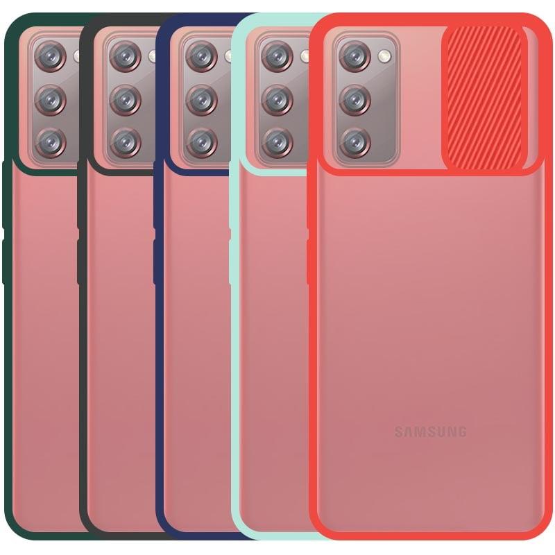 قاب محافظ مناسب برای گوشی Samsung Galaxy S20 FE مدل ماکرو شیلد محافظ لنزدار طرح پشت مات