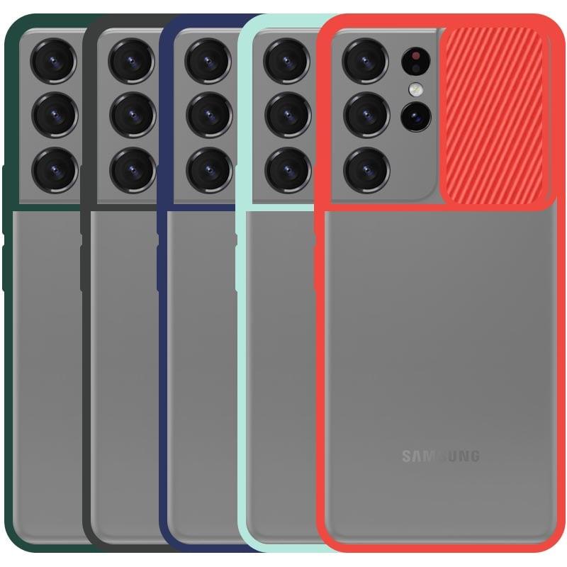 قاب محافظ مناسب برای گوشی Samsung Galaxy S21 Ultra مدل ماکرو شیلد محافظ لنزدار طرح پشت مات