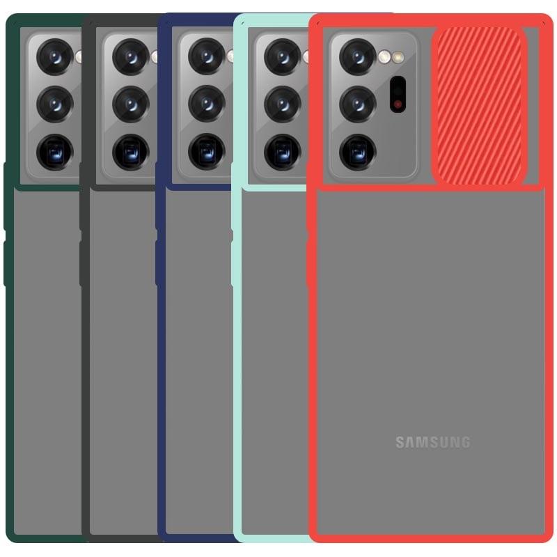 قاب محافظ مناسب برای گوشی Samsung Galaxy Note 20 Ultra مدل ماکرو شیلد محافظ لنزدار طرح پشت مات