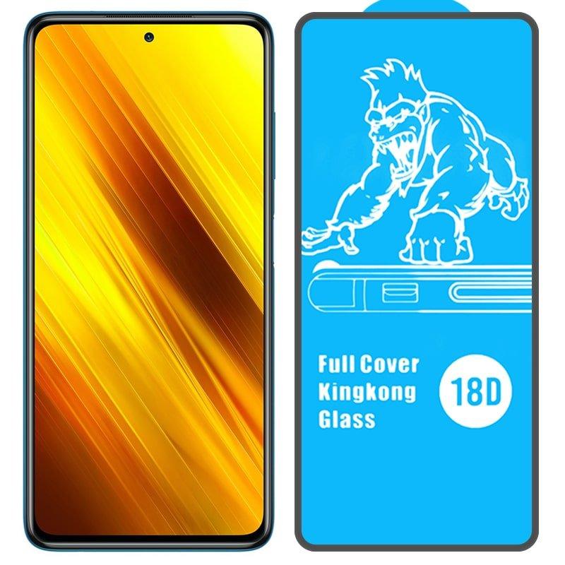 گلس ایربگ دار محافظ صفحه نمایش مناسب برای گوشی Xiaomi POCO X3 nfc مدل King Kong از برند آرمور گلس