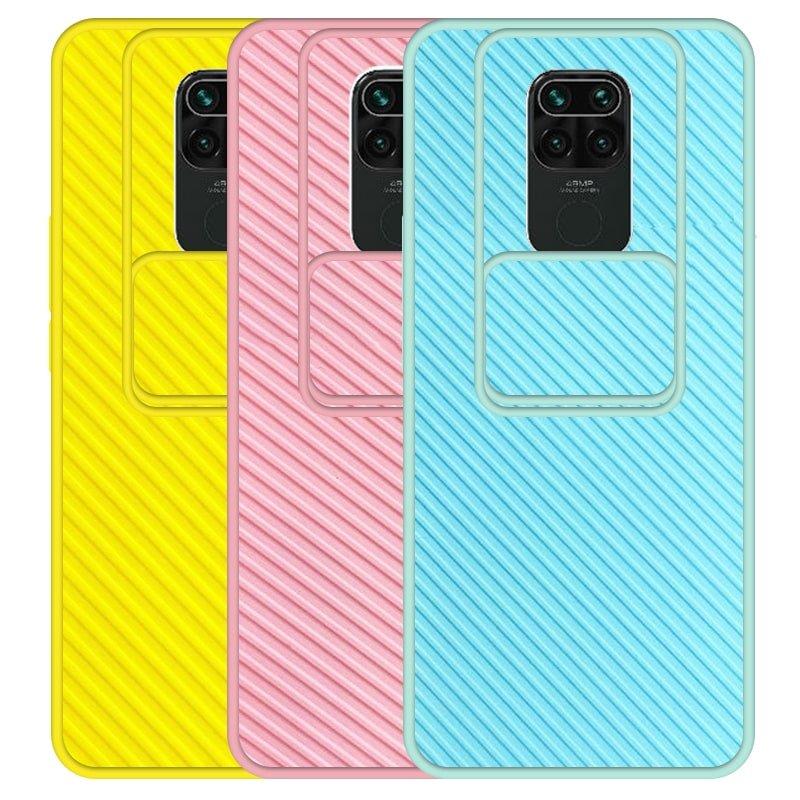 قاب و گارد محافظ مناسب برای گوشی Xiaomi Redmi Note 9 مدل اسلاید کمرا طرح رنگی کشویی