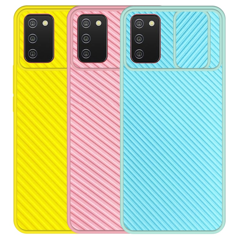 قاب و گارد محافظ مناسب برای گوشی Samsung Galaxy A02S مدل اسلاید کمرا طرح رنگی کشویی