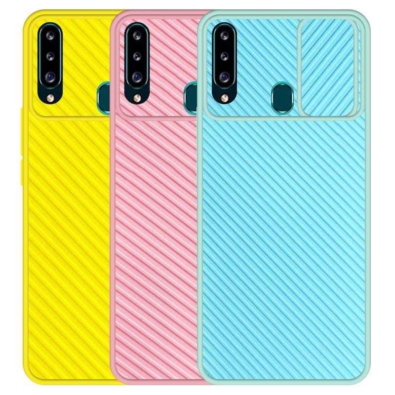 قاب و گارد محافظ مناسب برای گوشی Samsung Galaxy A20S مدل اسلاید کمرا طرح رنگی کشویی