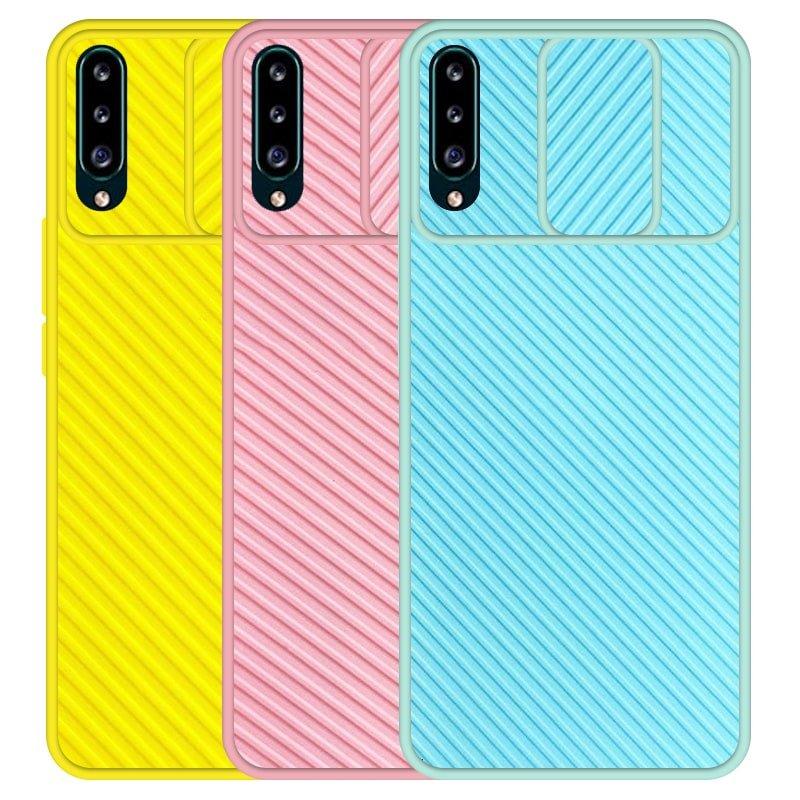 قاب و گارد محافظ مناسب برای گوشی Samsung Galaxy A30S مدل اسلاید کمرا طرح رنگی کشویی