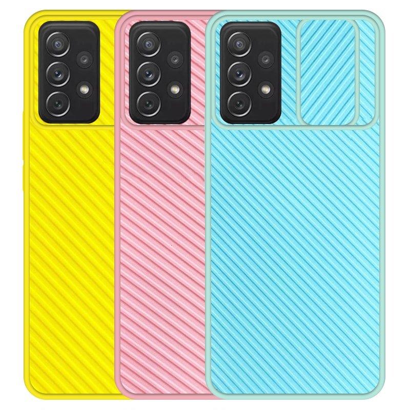 قاب و گارد محافظ مناسب برای گوشی Samsung Galaxy A52 5G / 4G مدل اسلاید کمرا طرح رنگی کشویی