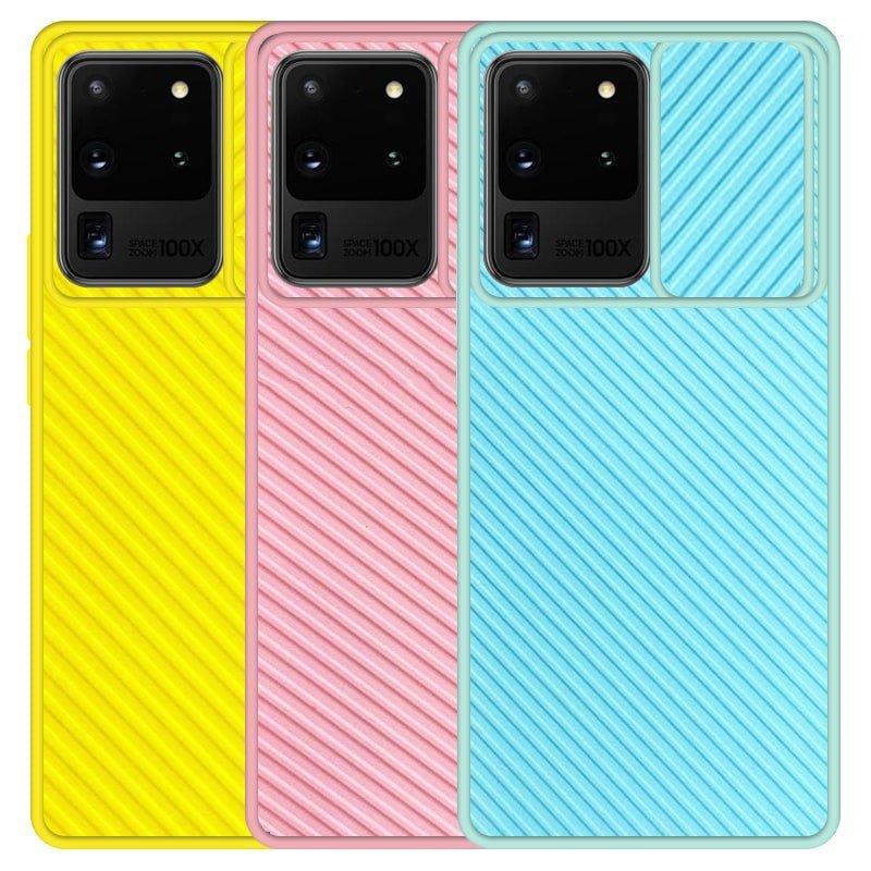 قاب و گارد محافظ مناسب برای گوشی Samsung Galaxy S20 Ultra مدل اسلاید کمرا طرح رنگی کشویی