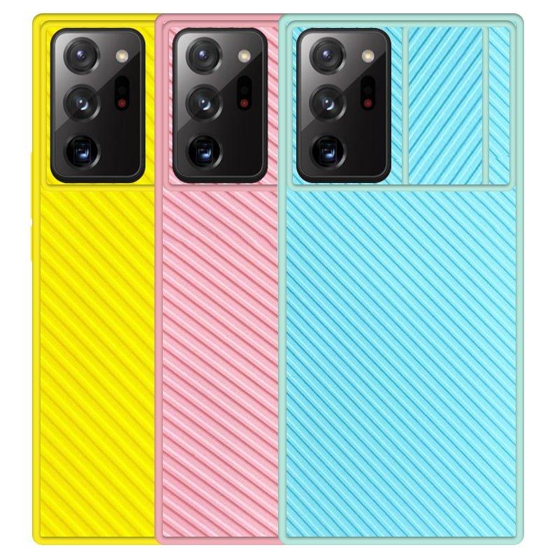 قاب و گارد محافظ مناسب برای گوشی Samsung Galaxy Note 20 Ultra مدل اسلاید کمرا طرح رنگی کشویی