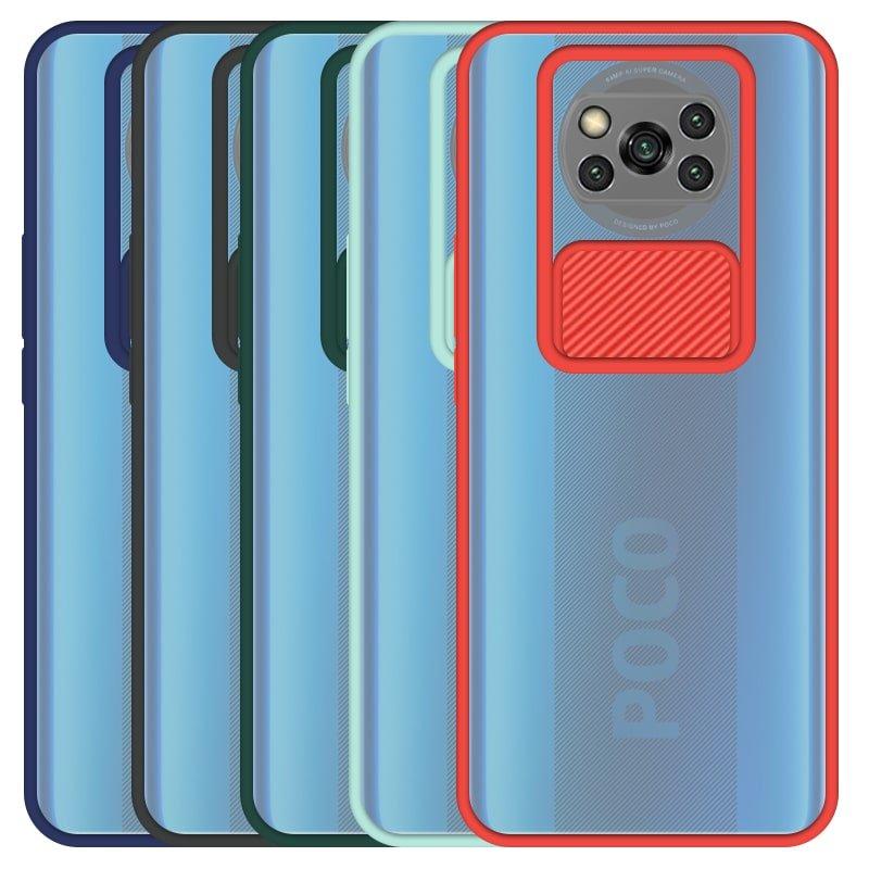قاب و گارد محافظ مناسب برای گوشی Xiaomi POCO X3 Pro مدل ماکرو شیلد محافظ لنزدار طرح پشت مات
