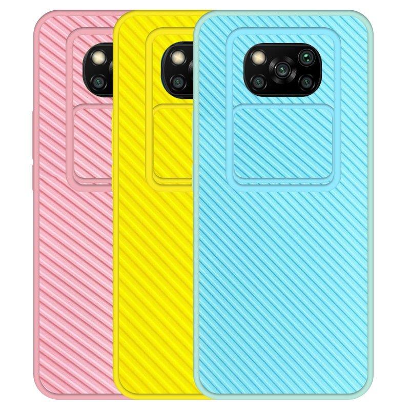قاب و گارد محافظ مناسب برای گوشی Xiaomi POCO X3 PRO مدل اسلاید کمرا طرح رنگی کشویی