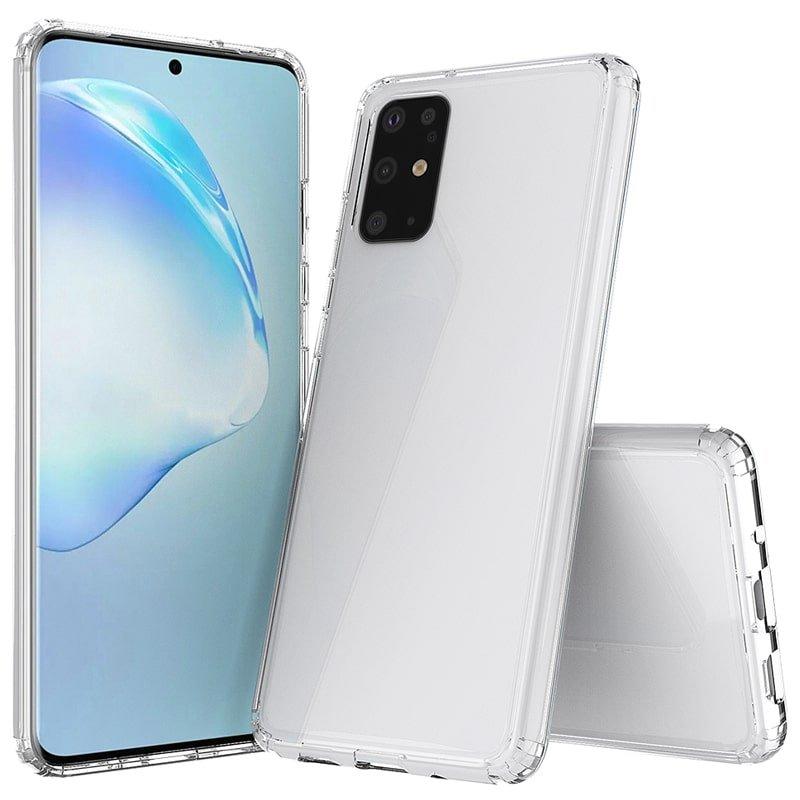 گارد محافظ ایربگ دار برای گوشی Samsung Galaxy S20 Plus مدل دور ژله ای شفاف پشت طلق کریستالی