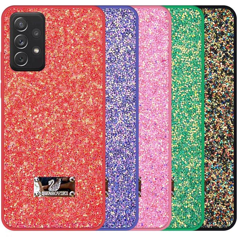 قاب بک کاور شاین دخترانه مناسب برای گوشی Samsung Galaxy A52 4G / 5G مدل لاکچری دیزاین طرح سواروسکی براق (اکلیلی ثابت)
