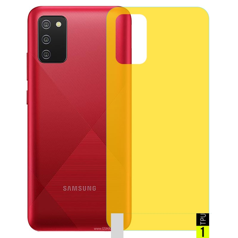برچسب نانو پشت گوشی Samsung Galaxy A02S مدل فول کاور شفاف آنتی شوک