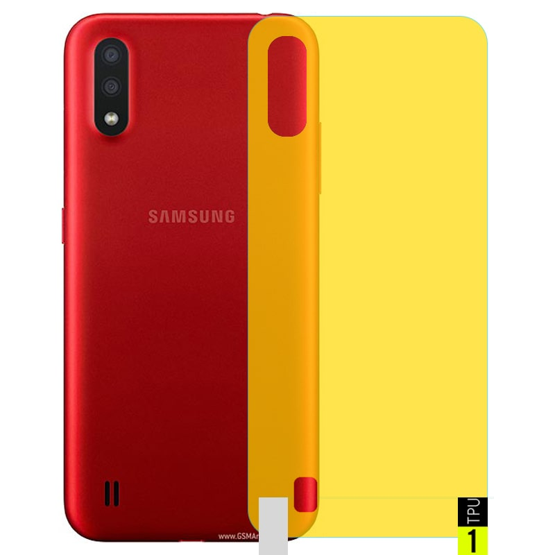برچسب نانو پشت گوشی Samsung Galaxy A01 مدل فول کاور شفاف آنتی شوک