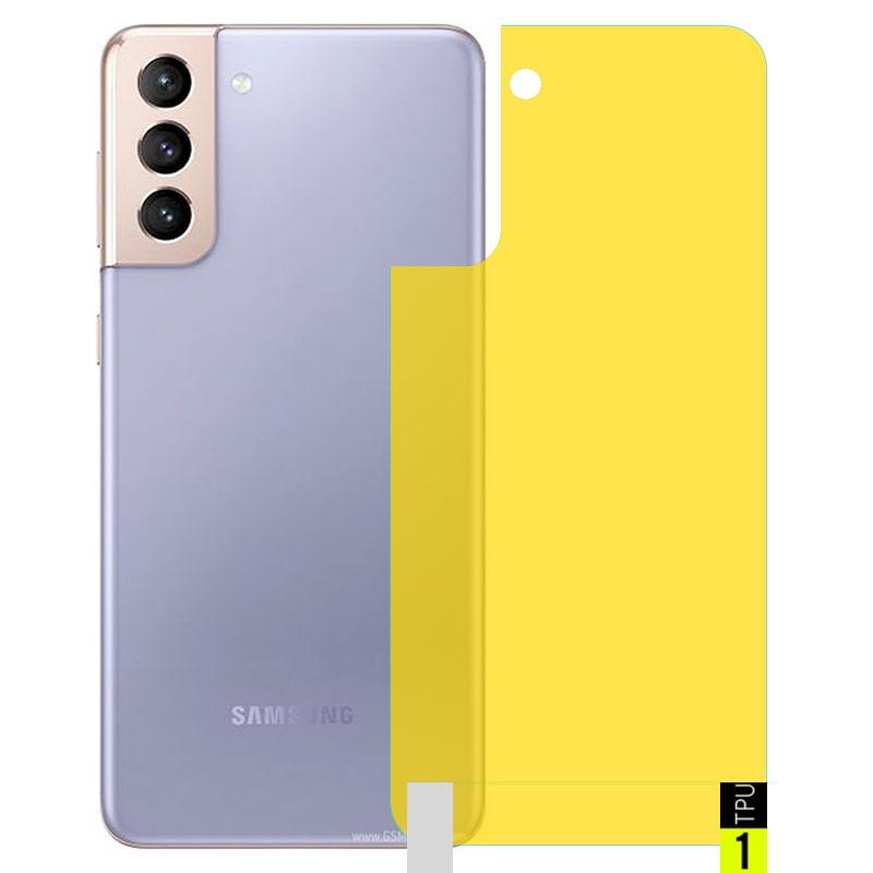 برچسب نانو پشت گوشی Samsung Galaxy S21 5G مدل فول کاور شفاف آنتی شوک