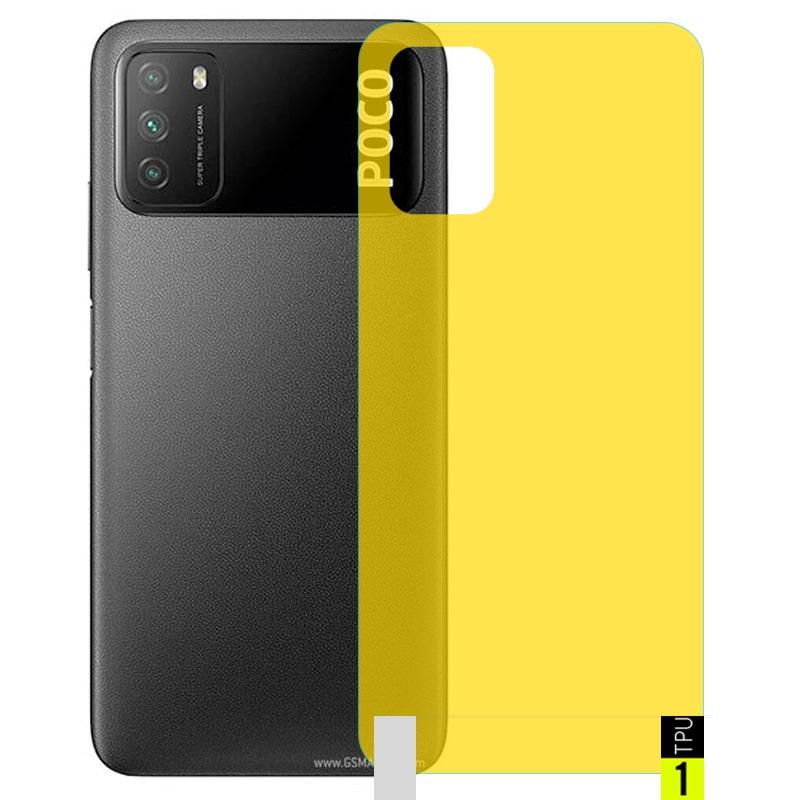 برچسب نانو پشت گوشی Xiaomi POCO M3 مدل فول کاور شفاف آنتی شوک