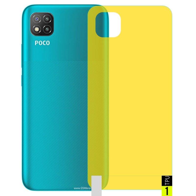 برچسب نانو پشت گوشی Xiaomi POCO C3 مدل فول کاور شفاف آنتی شوک