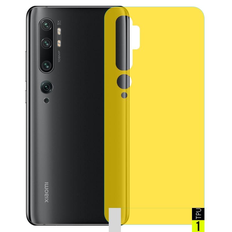 برچسب نانو پشت گوشی Xiaomi MI Note 10 / Pro مدل فول کاور شفاف آنتی شوک