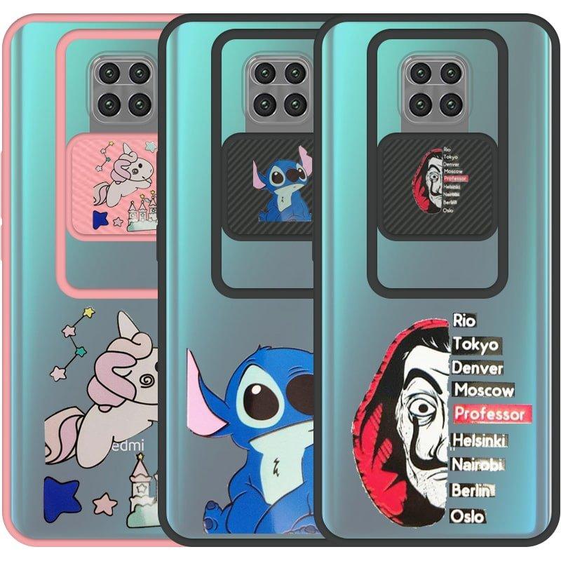 قاب طرحدار دخترانه و پسرانه مناسب برای گوشی Xiaomi Redmi Note 9 Pro / Max مدل ماکرو شیلد محافظ لنزدار فانتزی