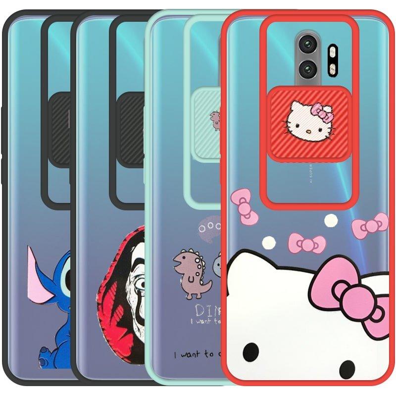 قاب طرحدار دخترانه و پسرانه مناسب برای گوشی Xiaomi Redmi Note 8 Pro مدل ماکرو شیلد محافظ لنزدار فانتزی