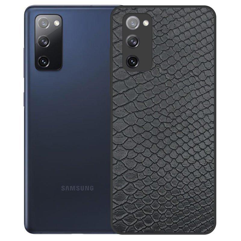 قاب چرم VIP دیزاین مناسب برای گوشی Samsung Galaxy S20 FE مدل محافظ لنزدار طرح چرم کروکودیل (صنعتی)