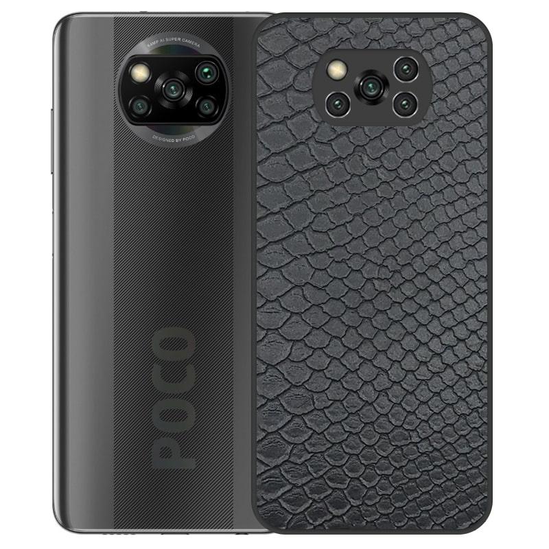 قاب چرم VIP دیزاین مناسب برای گوشی Xiaomi POCO X3 nfc / pro مدل محافظ لنزدار طرح چرم کروکودیل (صنعتی)