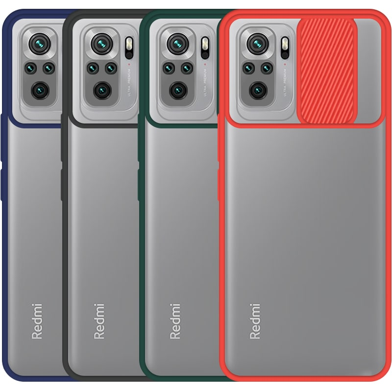 قاب محافظ مناسب برای گوشی Xiaomi Redmi Note 10S مدل ماکرو شیلد محافظ لنزدار طرح پشت مات